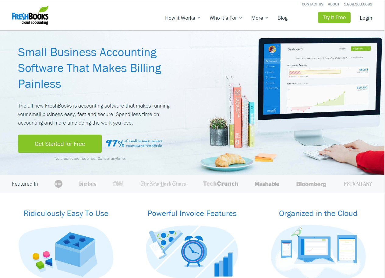 FreshBooks - Web Design