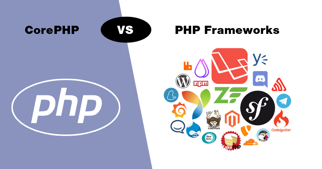 Difference In Development Using Core Php Vs Framework 2019