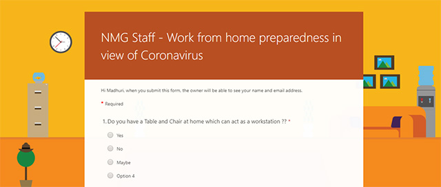 Work from Home Readiness Survey