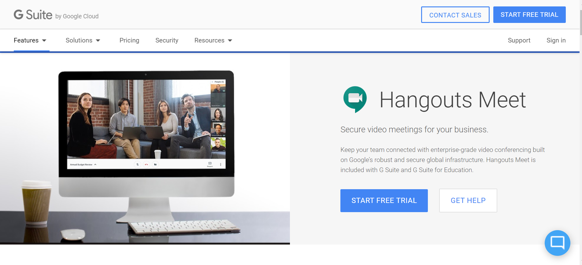 Google Hangouts Meet Online Video Conferencing G Suite